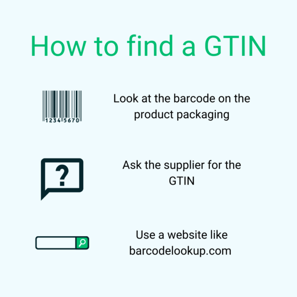 Where to find GTINs