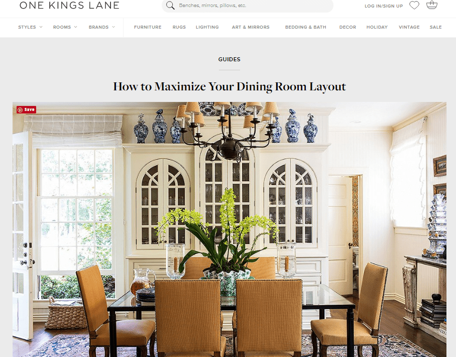 One Kings Lane How to Maximize Your Dining Room Screenshot.png