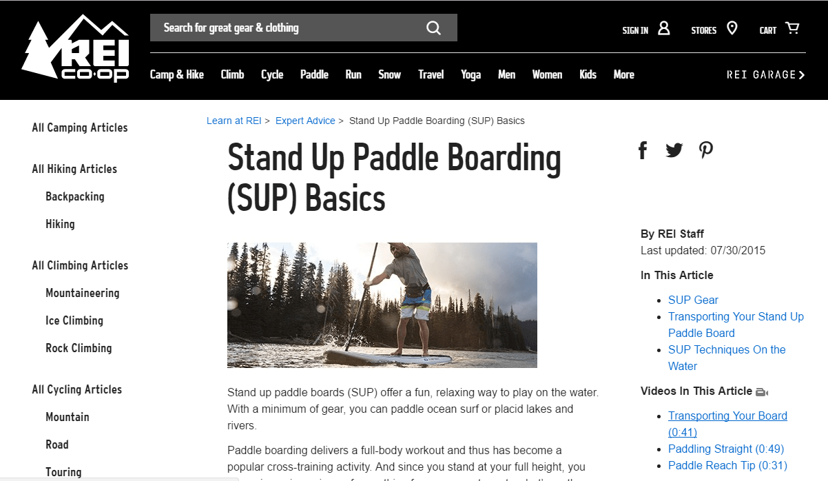REI Stand Up Paddle Boarding Screenshot.png