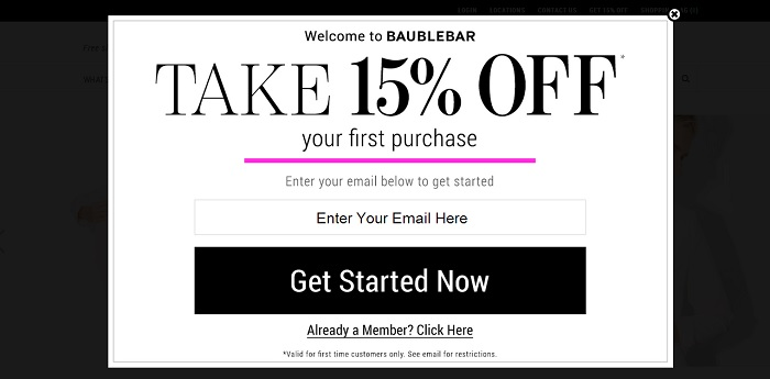 Great email CTA example for niche content marketers