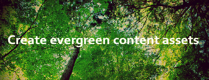 create evergreen ecommerce SEO content assets