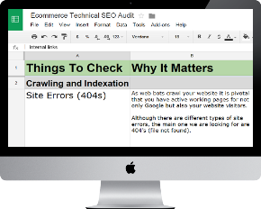 Ecommerce Checklist for troubleshooting your SEO