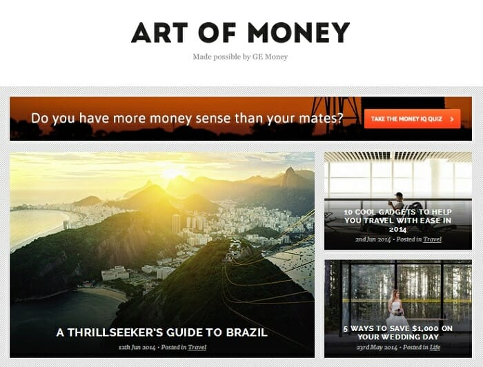 GE Art Of Money Content Marketing