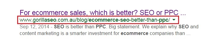 Use keywords in your ecommerce URL?Permalinks