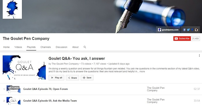 the Q&A content marketing series