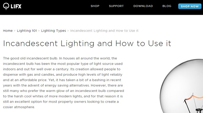 Lifx ecommerce how to content
