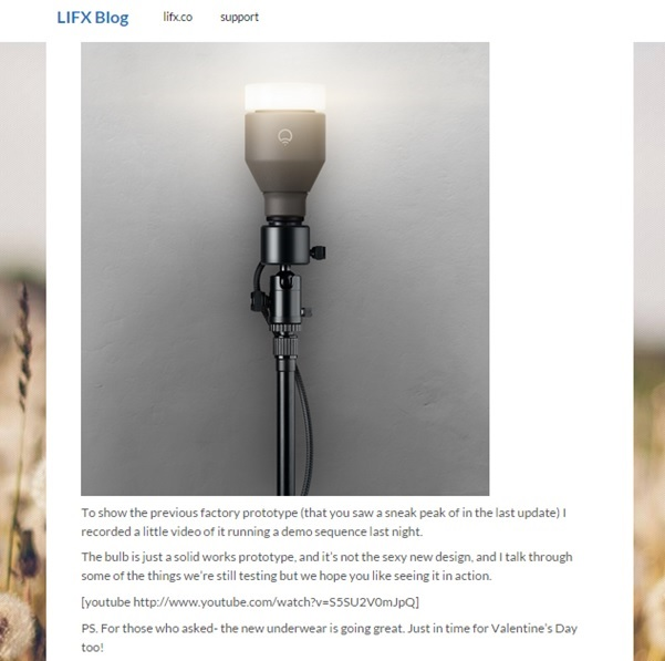 Lifx personalised ecommerce content