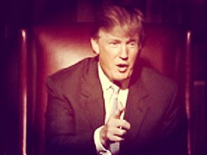 Donald Trump points the finger