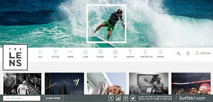 Surfstitch's content marketing hub