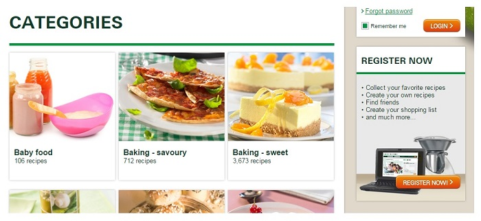 Thermomix's ecommerce content UX example