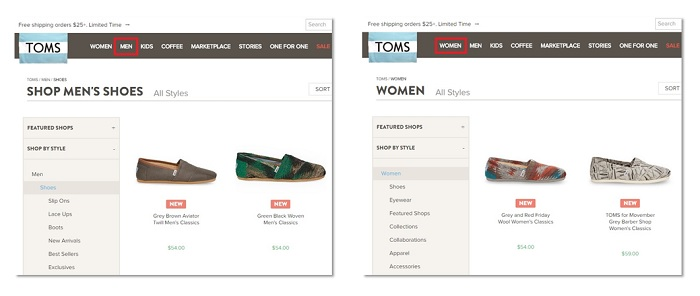 When Deeper Site Architecture helps ecommerce customers