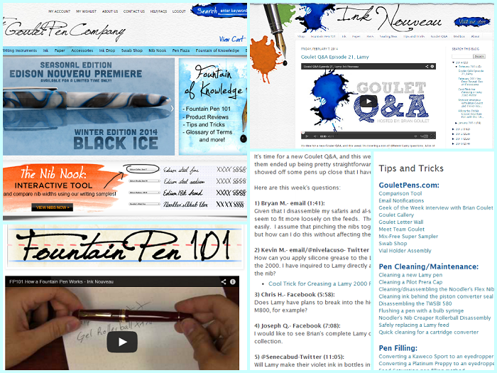 Niche Ecommerce Blog Examples Goulet Pens